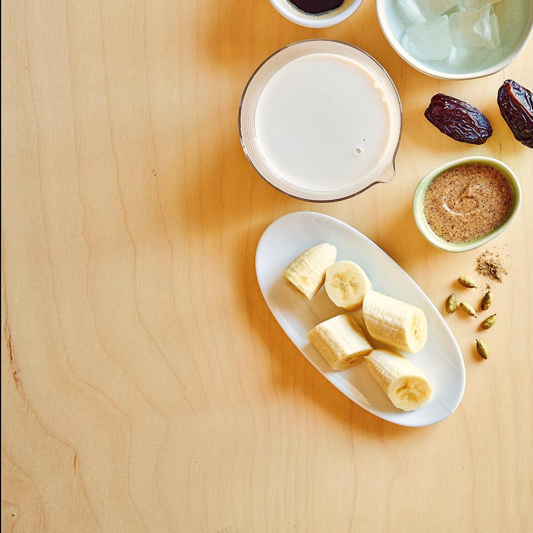 Vegan Coffee and Banana Smoothie