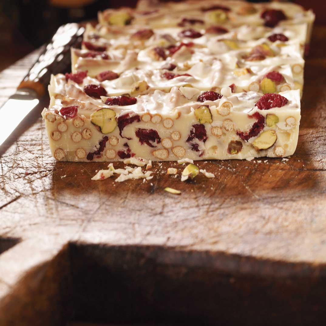 Cranberry and Pistachio Bark