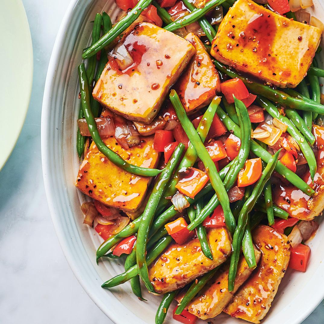 Steak-Spiced Tofu with Sautéed Vegetables