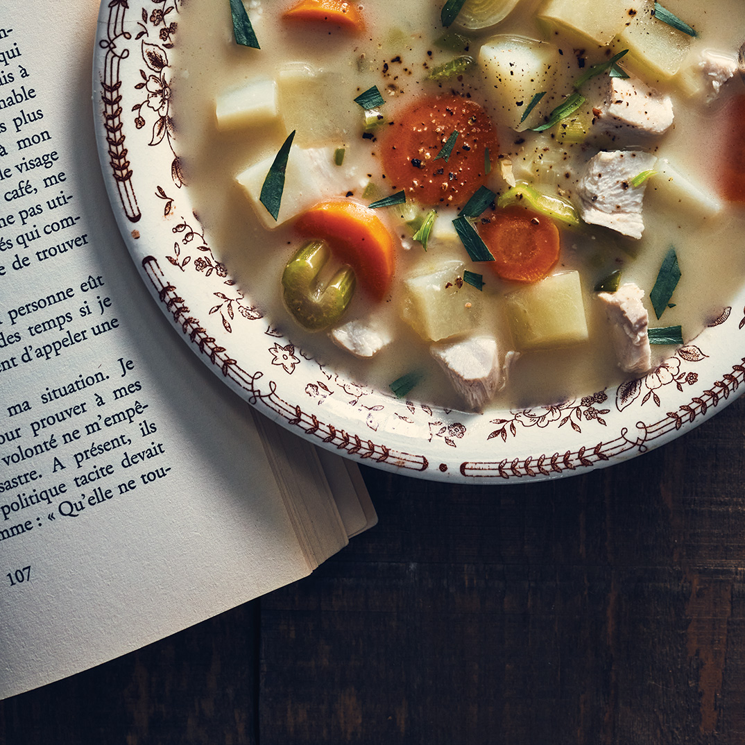 Creamy Chicken and Tarragon Soup