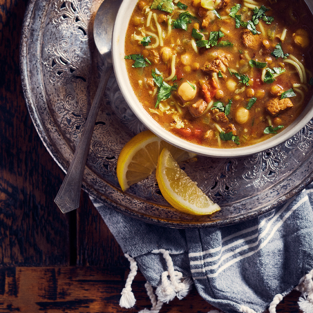 Moroccan Lamb and Legume Soup (Harira)