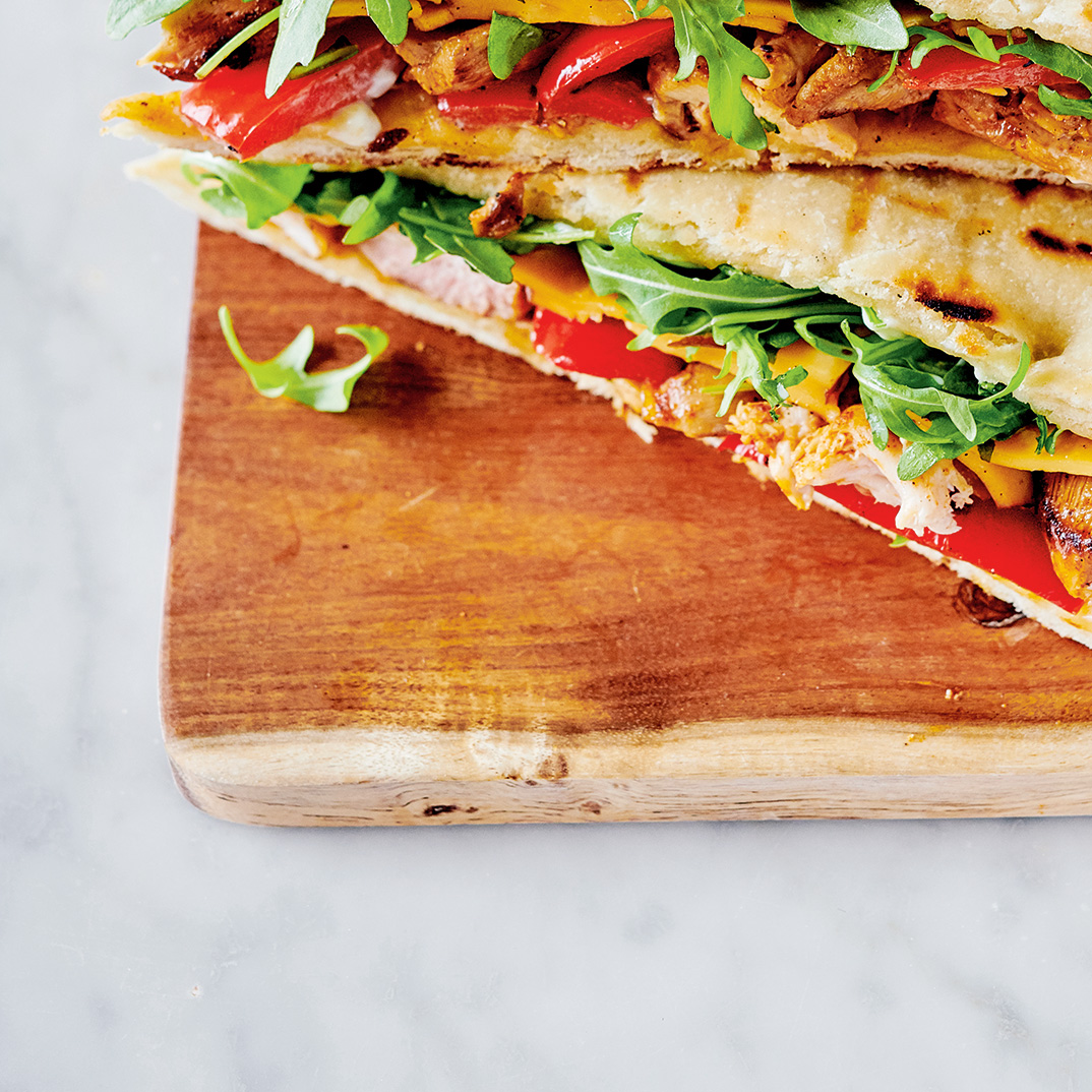 Chicken Panini with Roasted Bell Peppers and Smoked Gouda