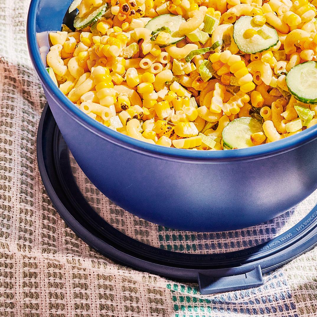 Creamy Macaroni and Grilled Corn Salad