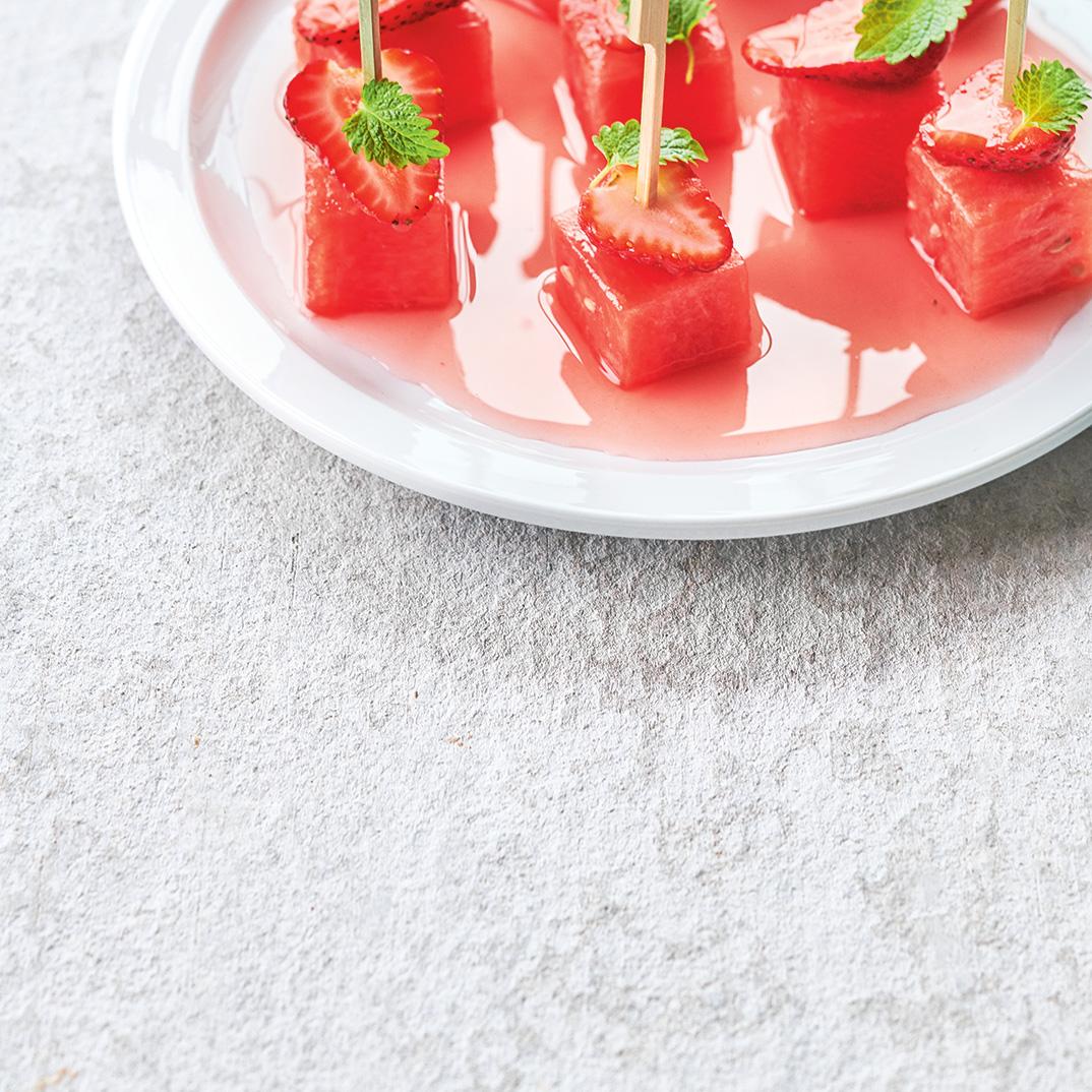 Watermelon and Strawberry Bites