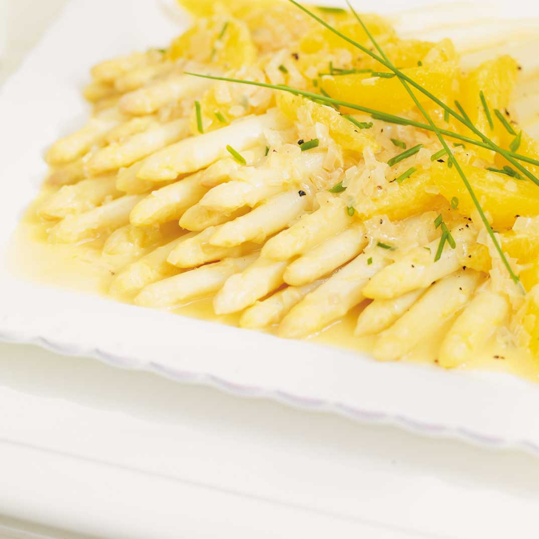 White Asparagus with Orange Beurre Blanc