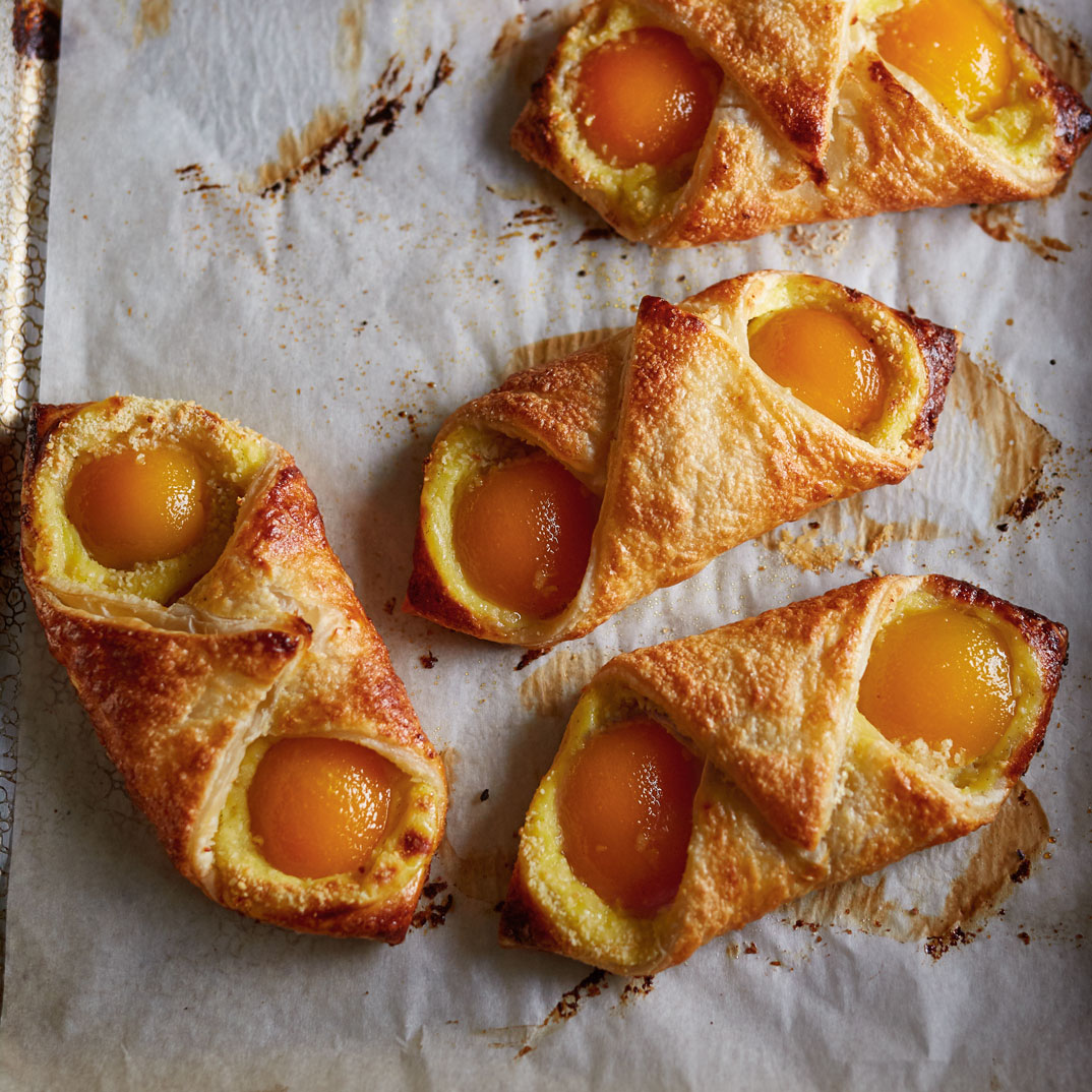 Apricot and Almond Puff Pastries