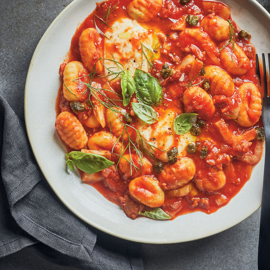 One-Pot Gnocchi with Sausage, Fennel and Tomato Sauce