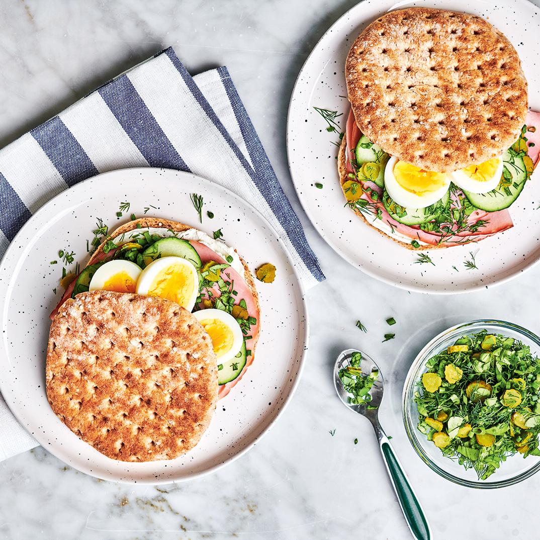 Ham, Egg and Fresh Herb Sandwiches