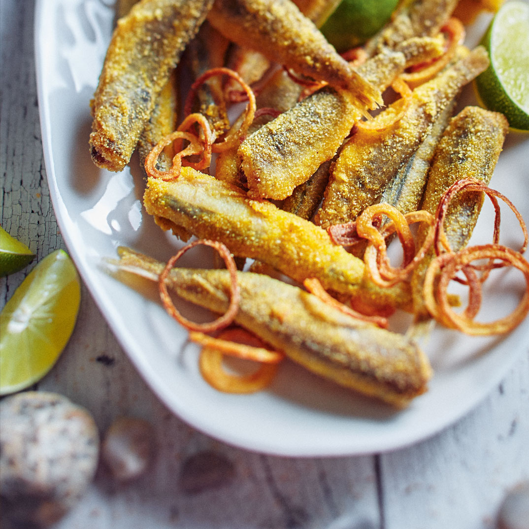 Fried Smelts with Shallots