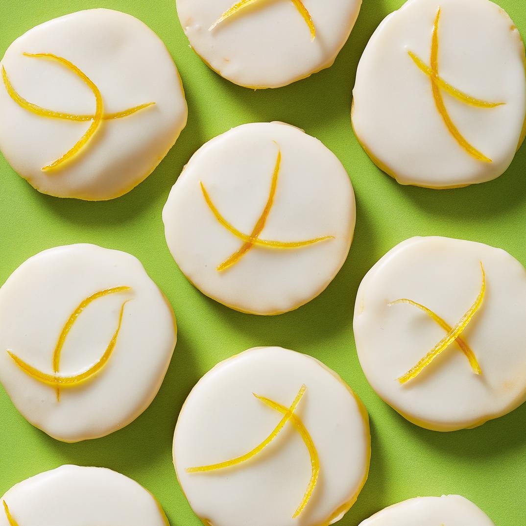 Limoncello Shortbread Cookies