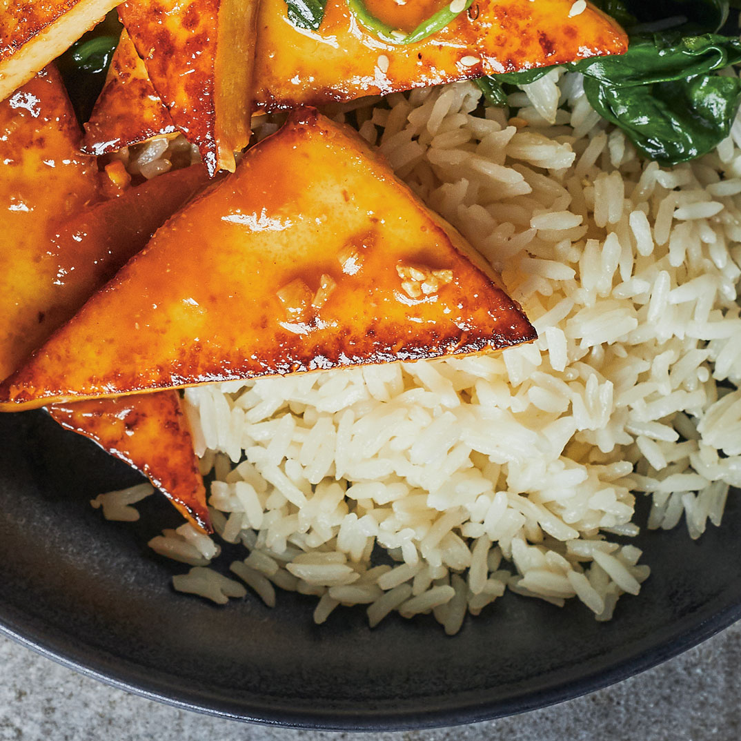 Ginger and Orange-Glazed Tofu