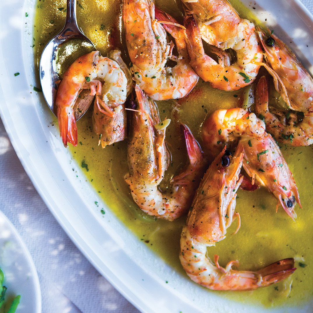 Shrimp with Mustard Sauce