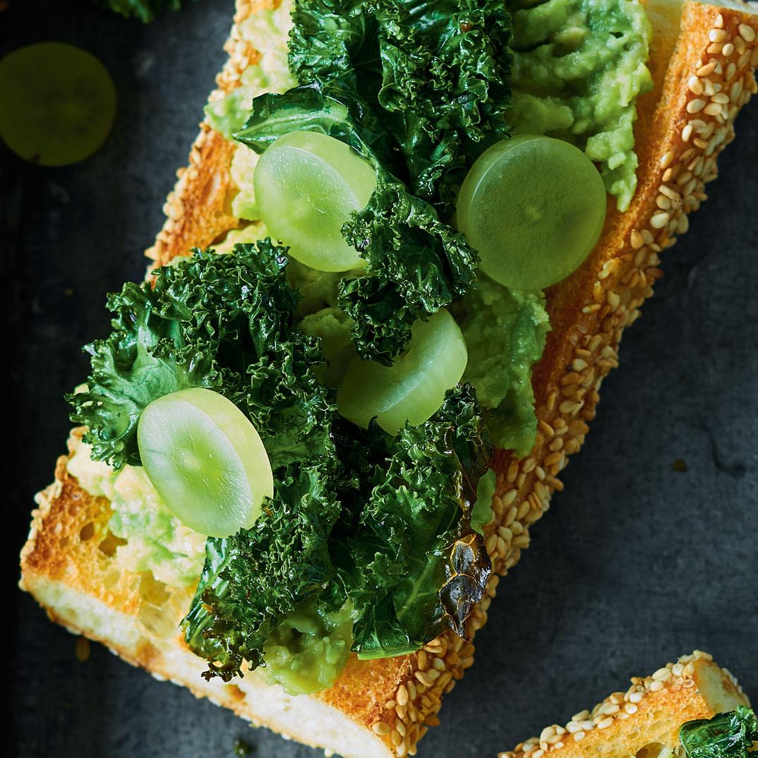 Crispy Kale and Avocado Toasts