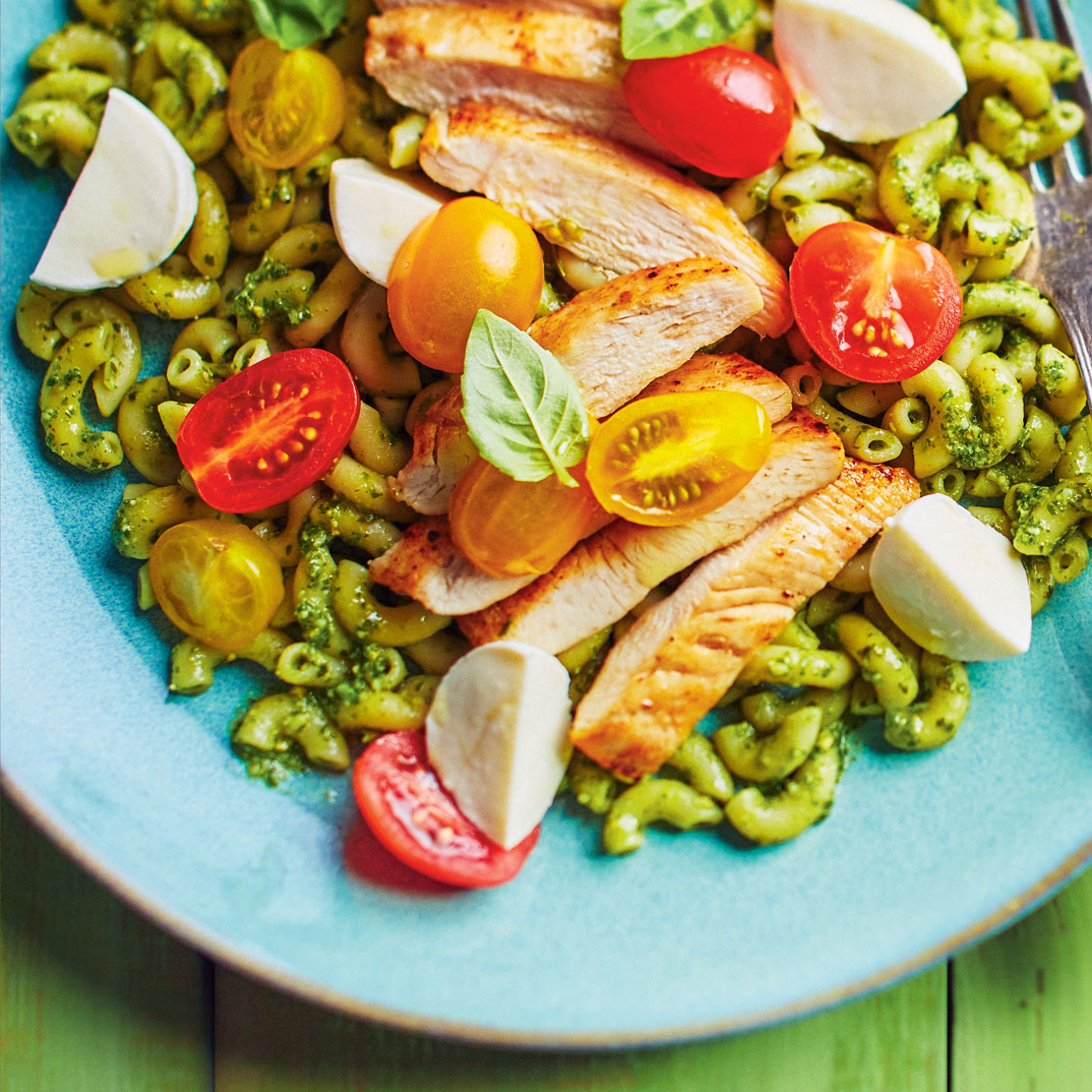 Pesto and Chicken Macaroni
