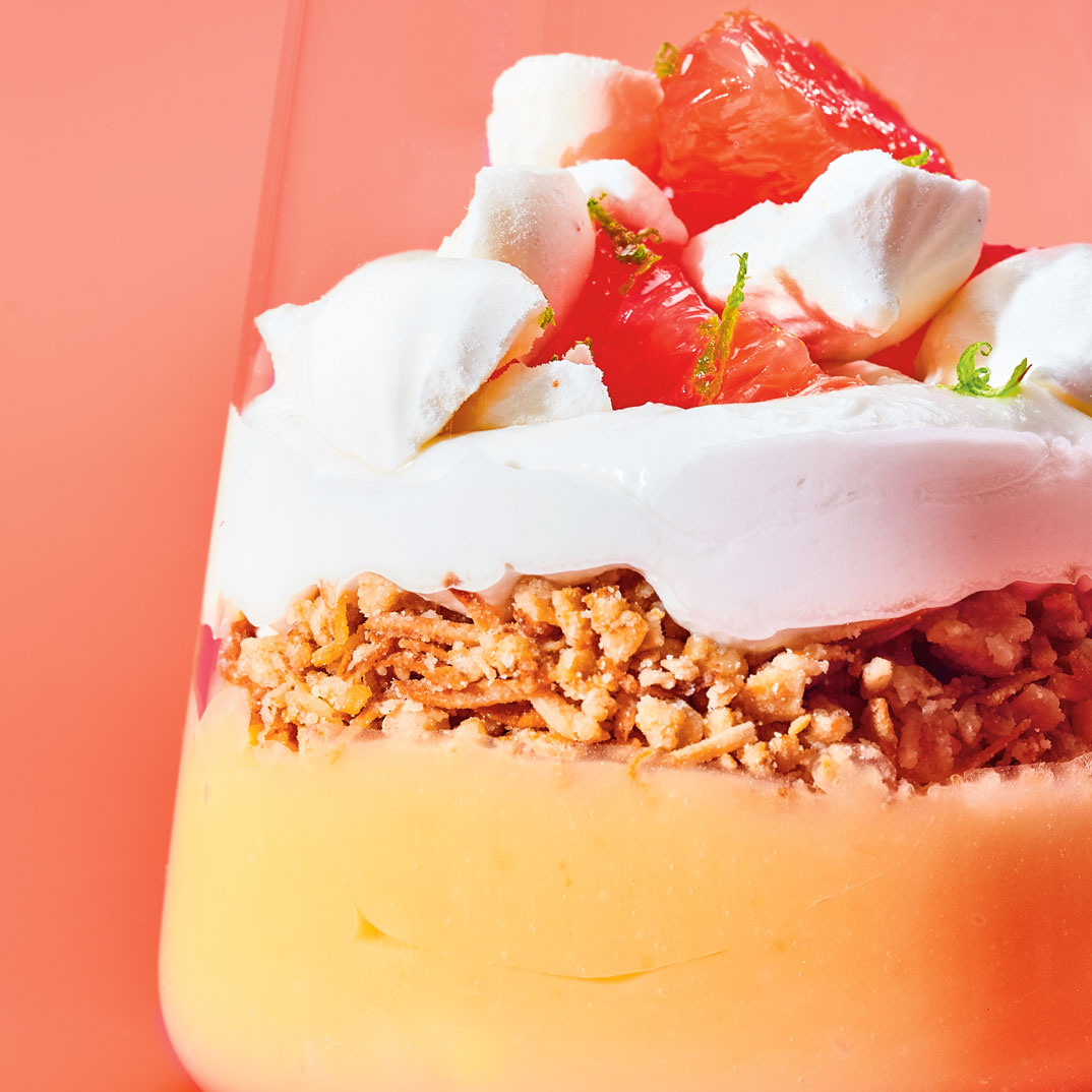 Grapefruit and Coconut Pie in a Jar