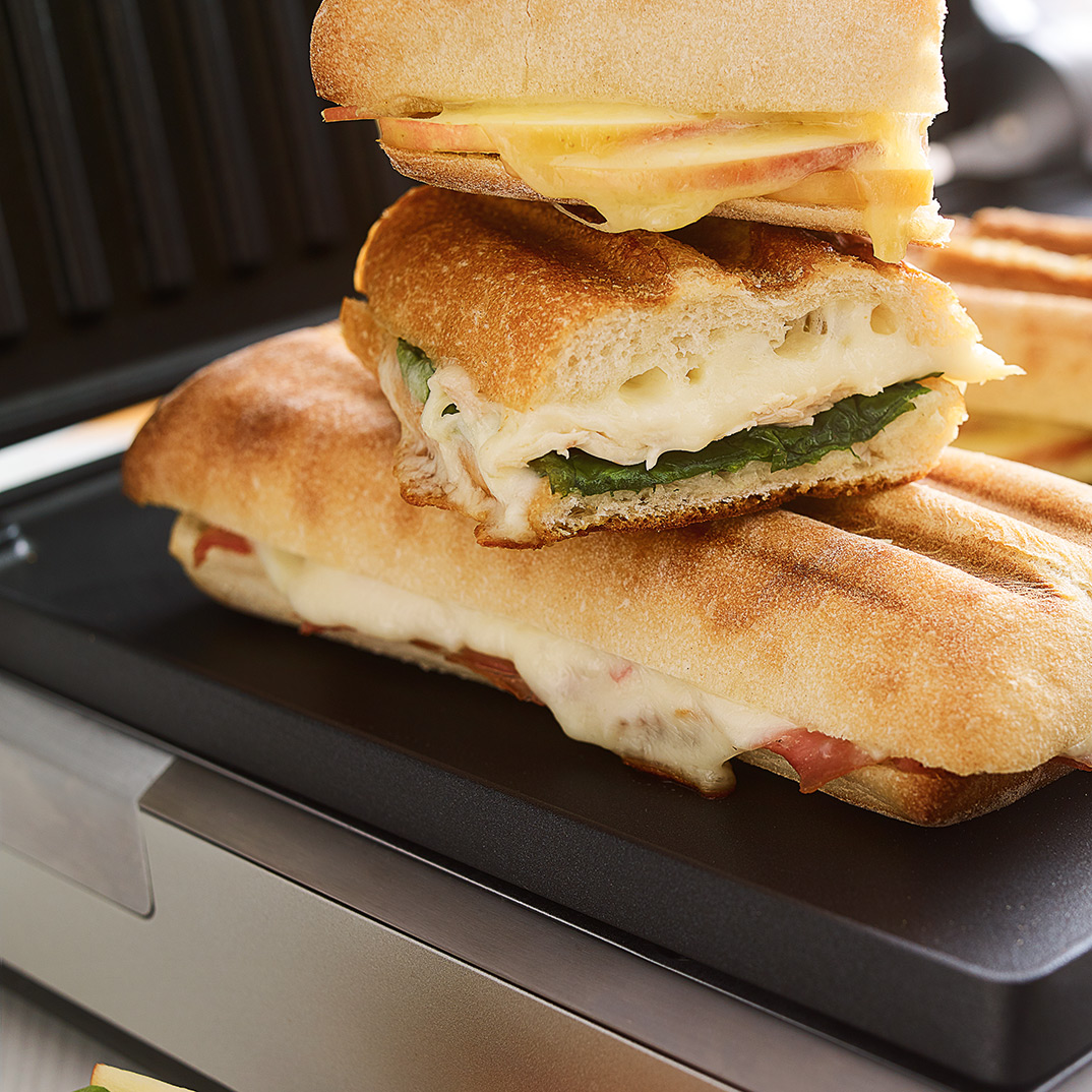 Panini au jambon et au fromage