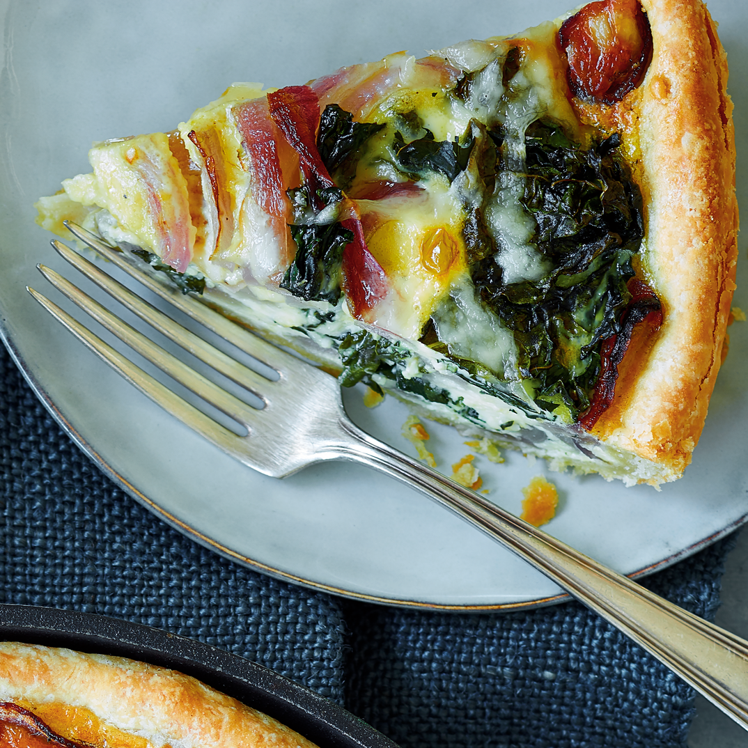 Tuscan Kale and Red Onion Quiche