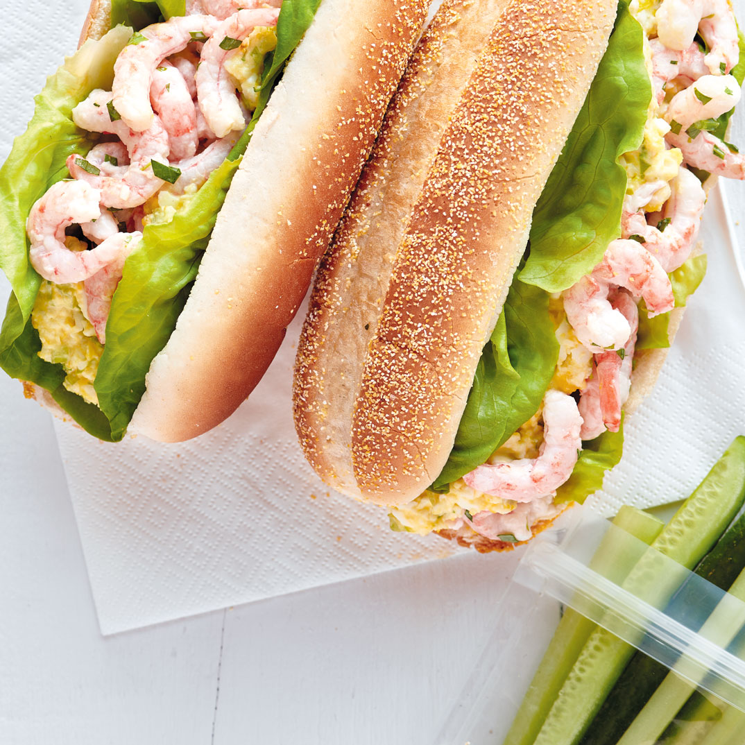 Egg Salad Sandwiches with Nordic Shrimp