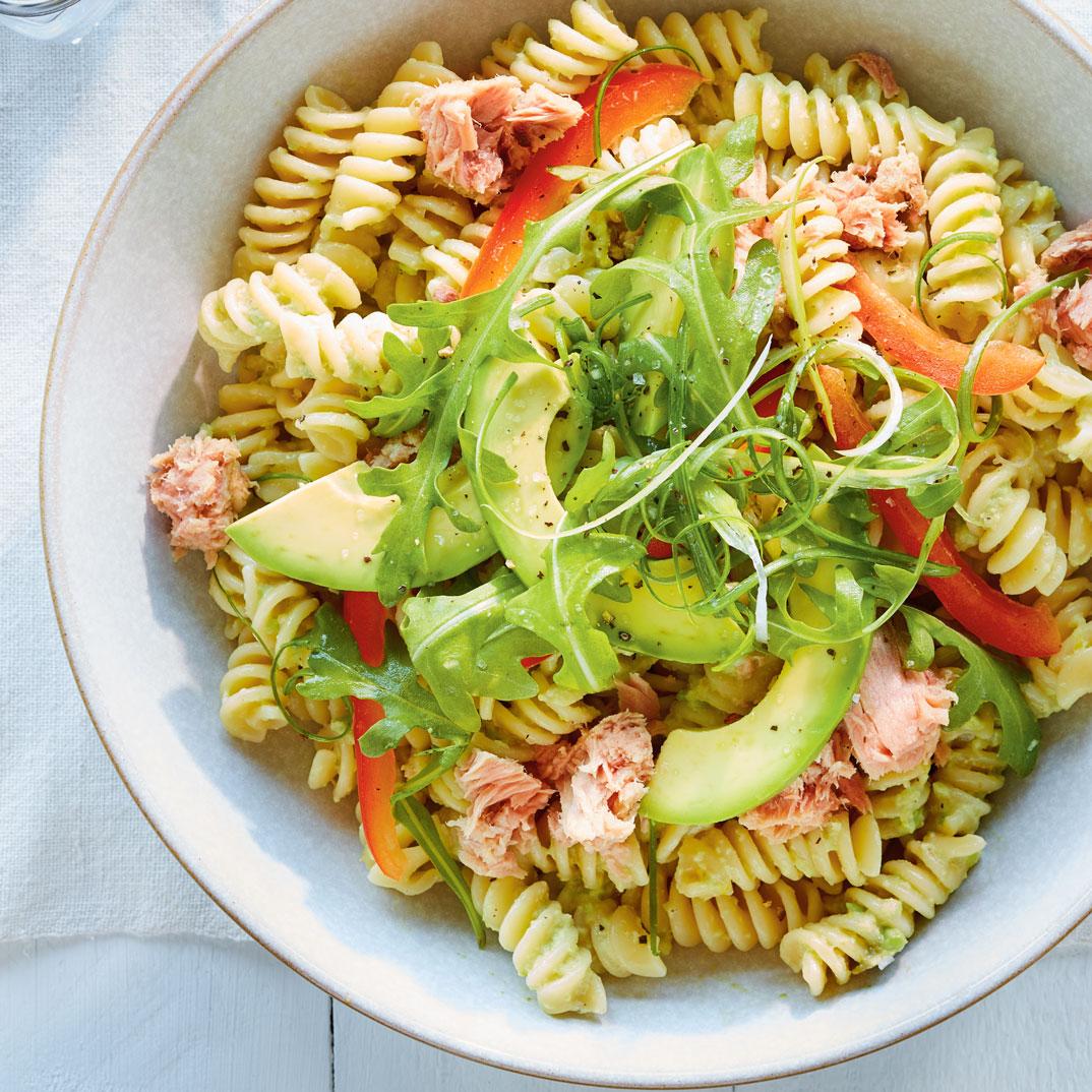 Pasta Salad with Avocado and Tuna