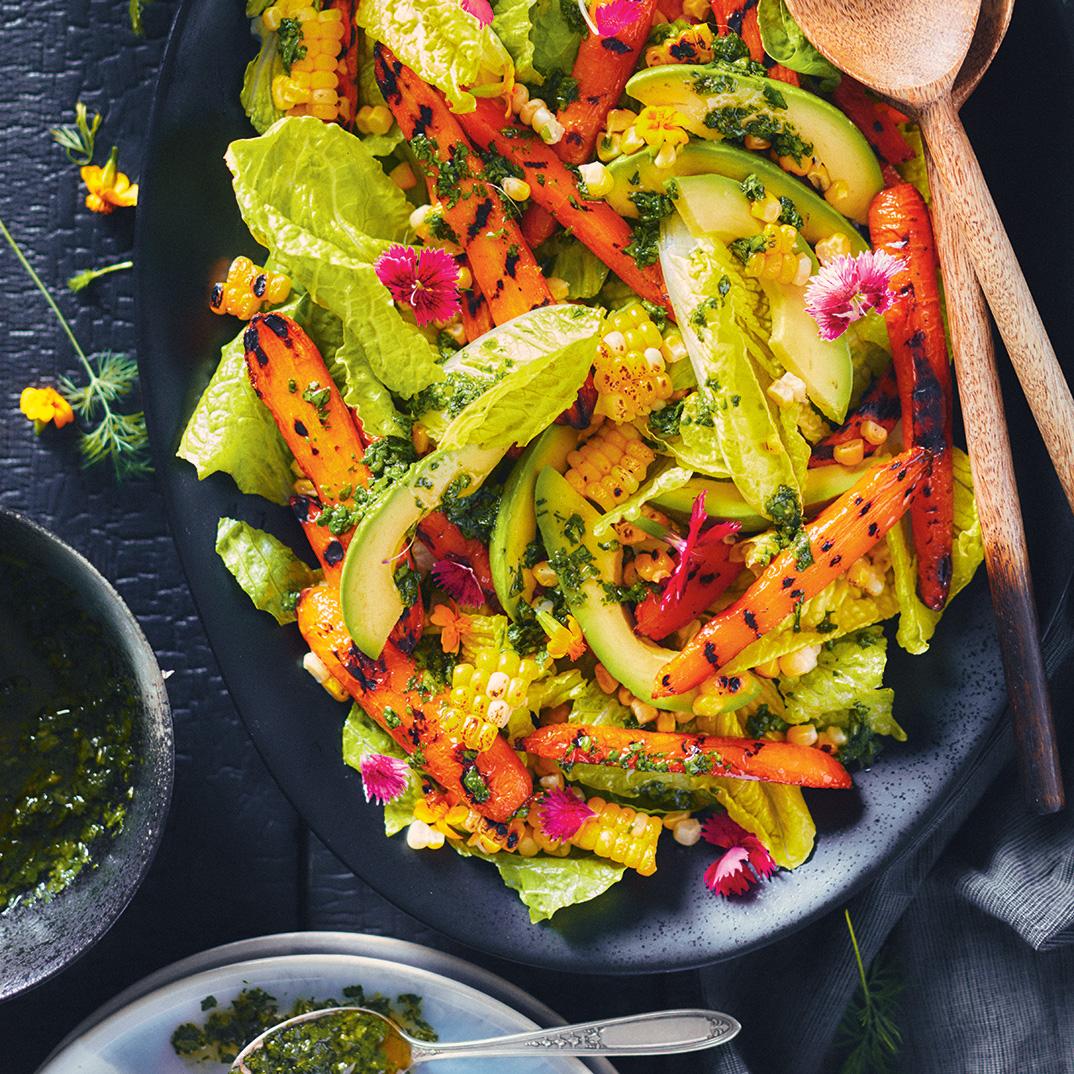 Salade de chimichurri aux légumes grillés