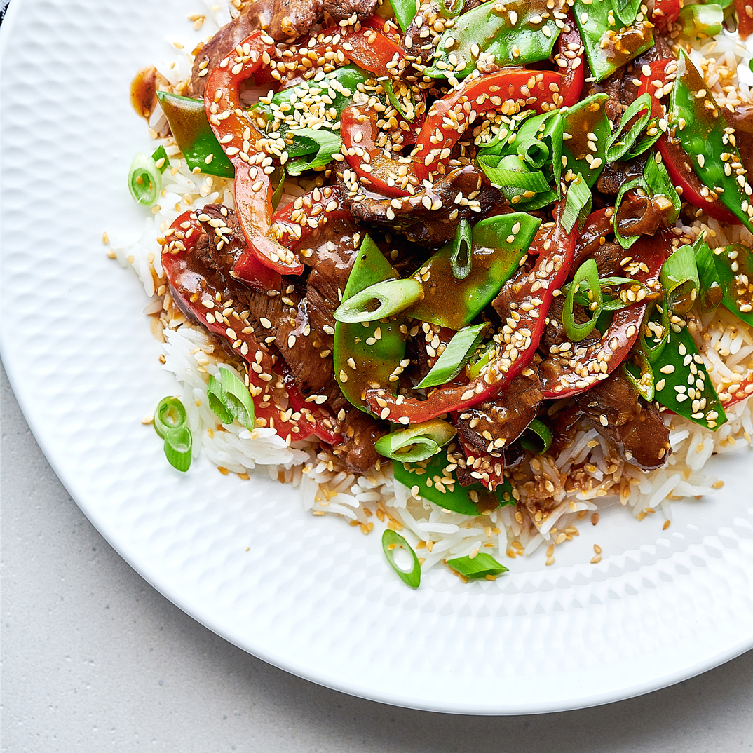Sesame Beef and Snow Pea Stir-Fry