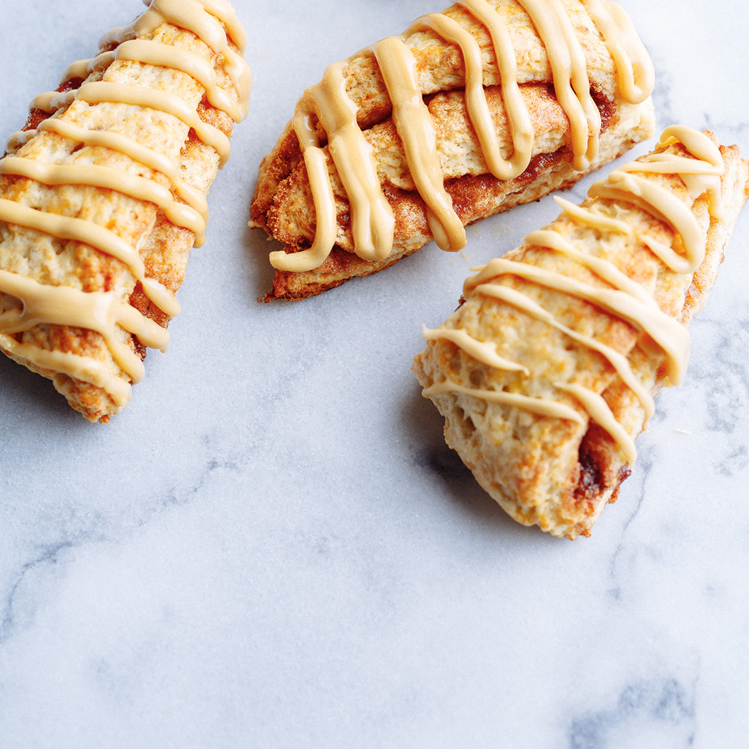 Maple-Glazed Banana Scones