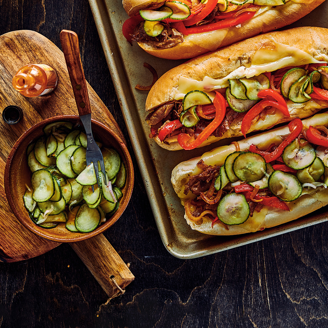 Beef and Bell Pepper Subs