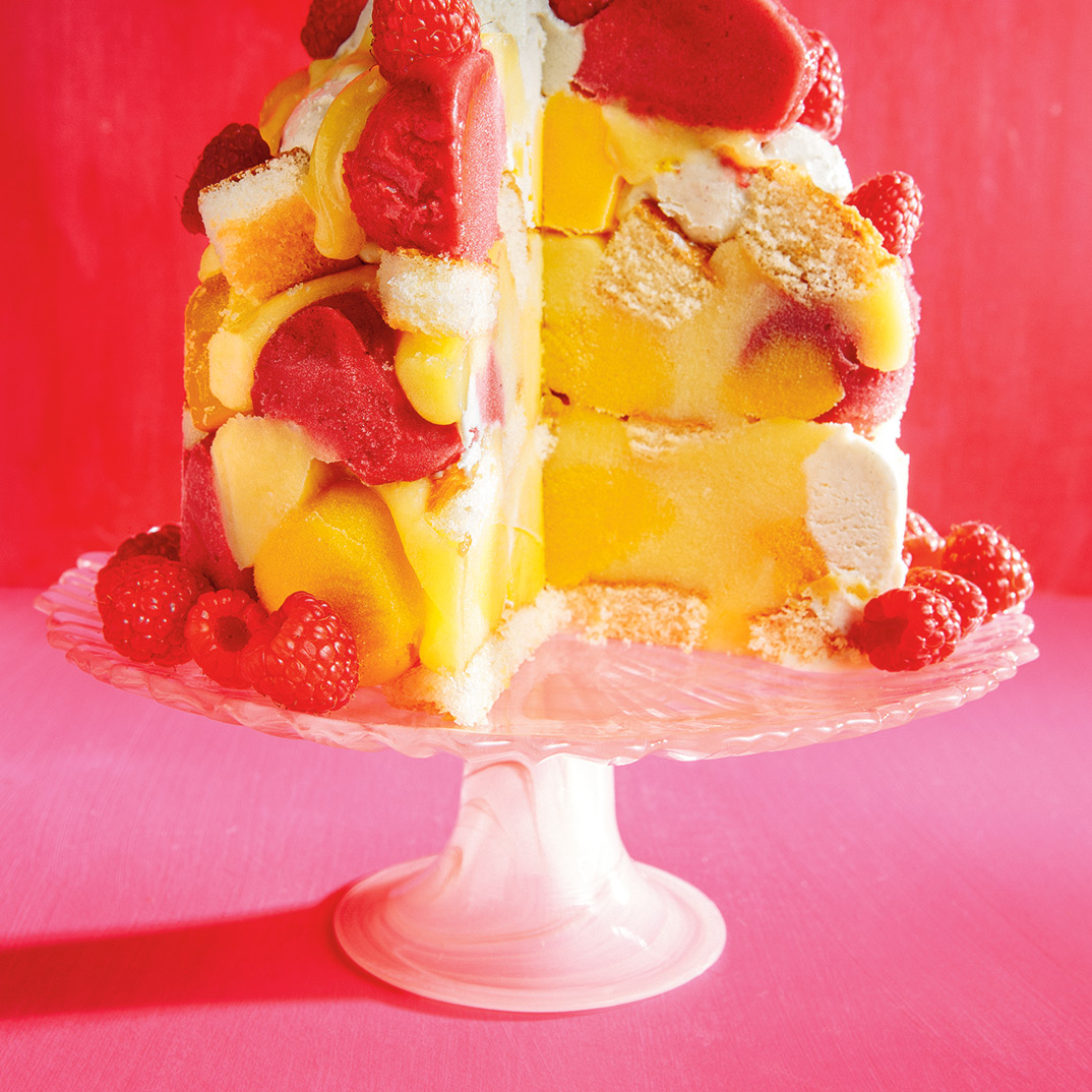 Frozen Raspberry and Mango Trifle