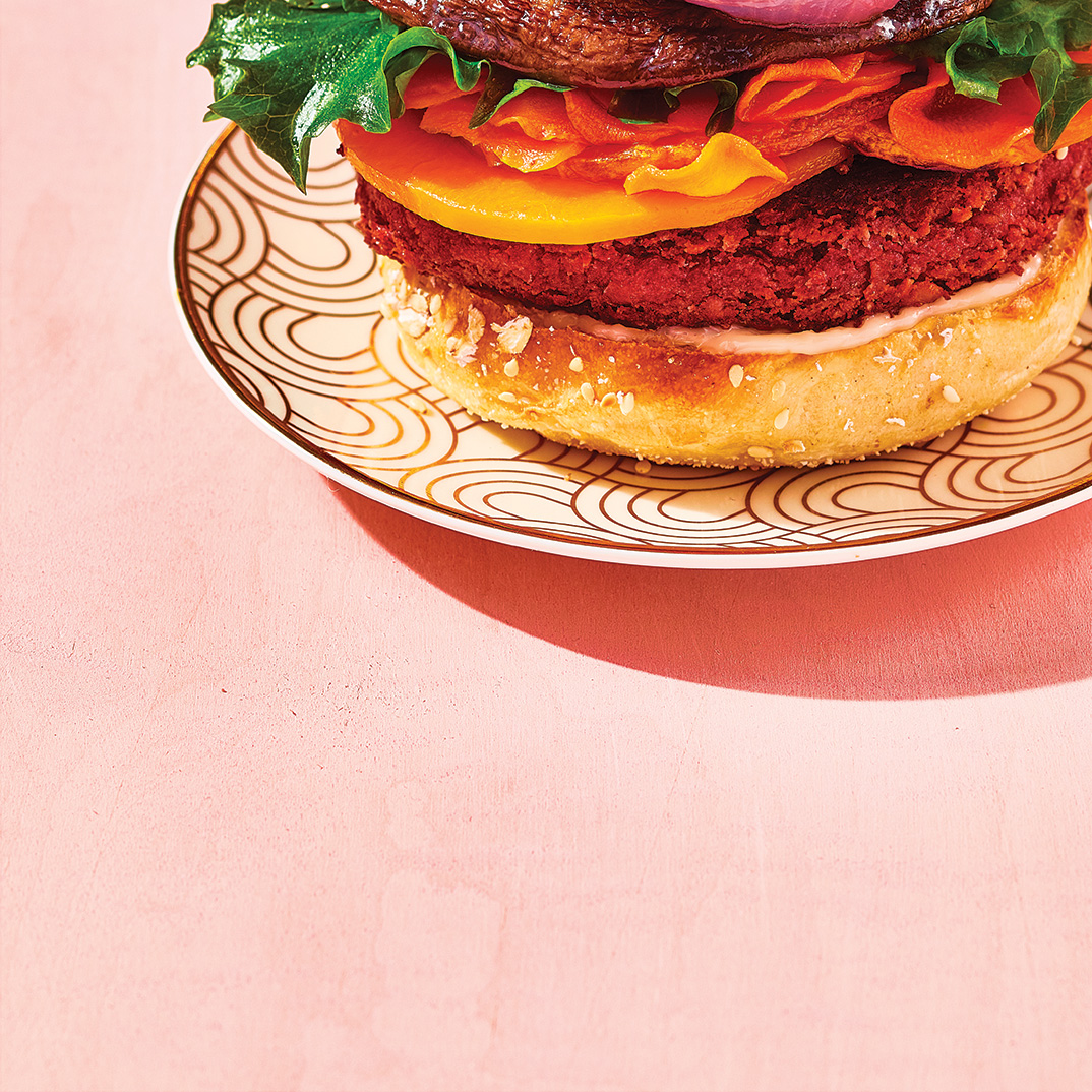 Chickpea and Roasted Vegetable Burgers