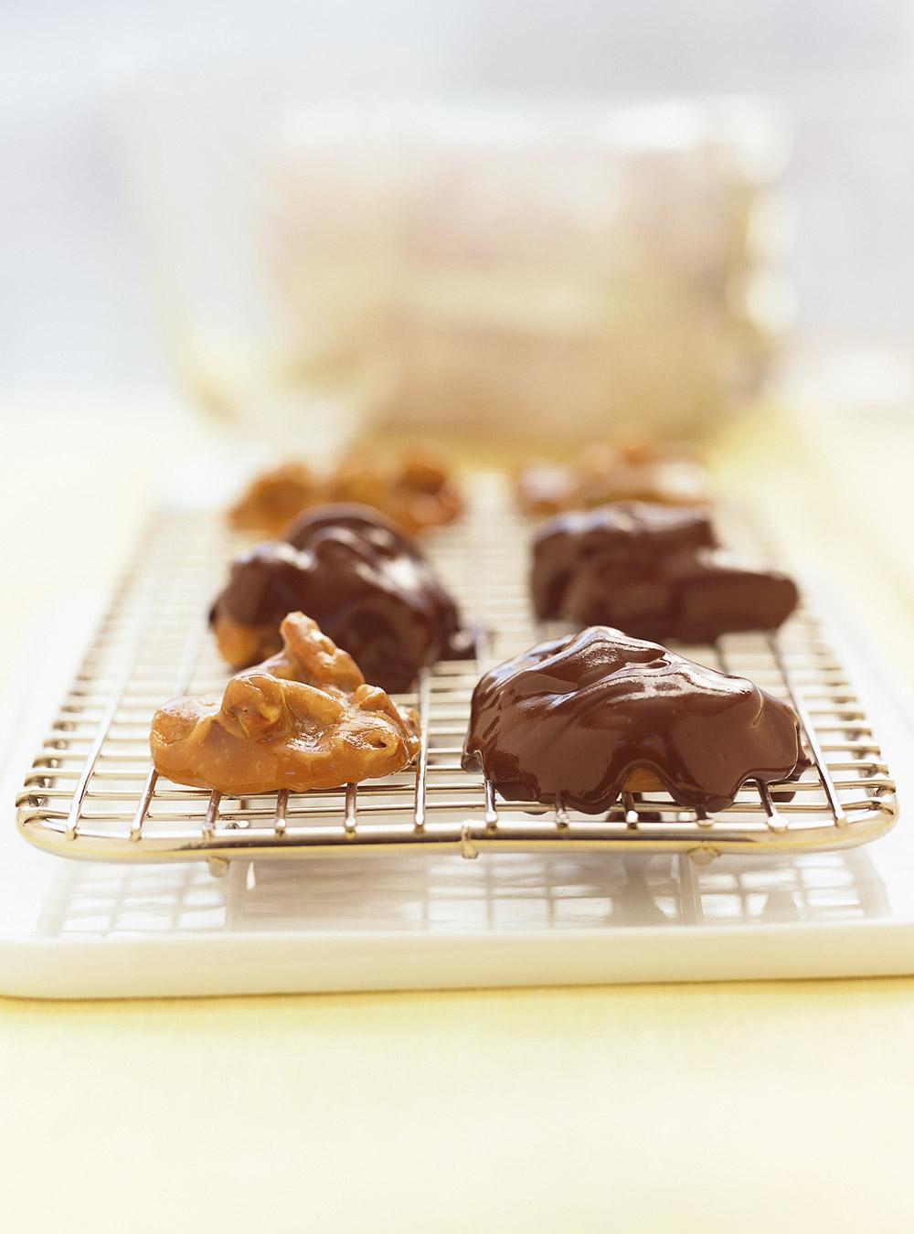 « Tortues » au chocolat (Turtles)