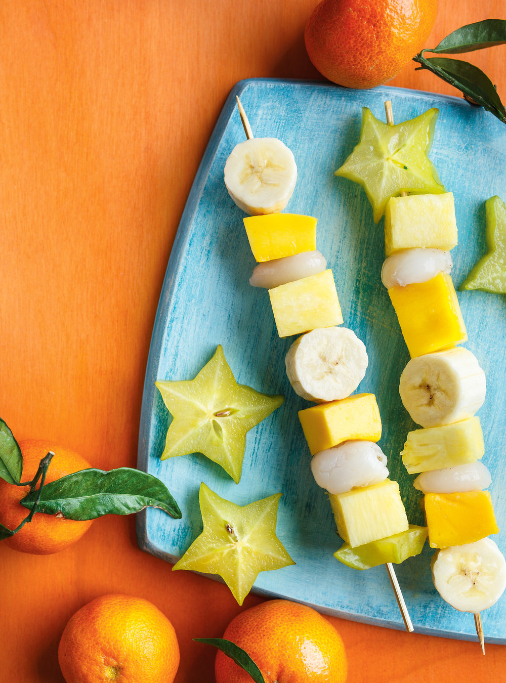 Idee De Brochette.Brochette De Fruits Exotiques