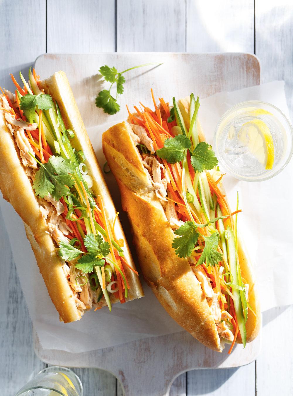 Sandwich au poulet la vietnamienne ricardo - Idee de sandwich froid ...