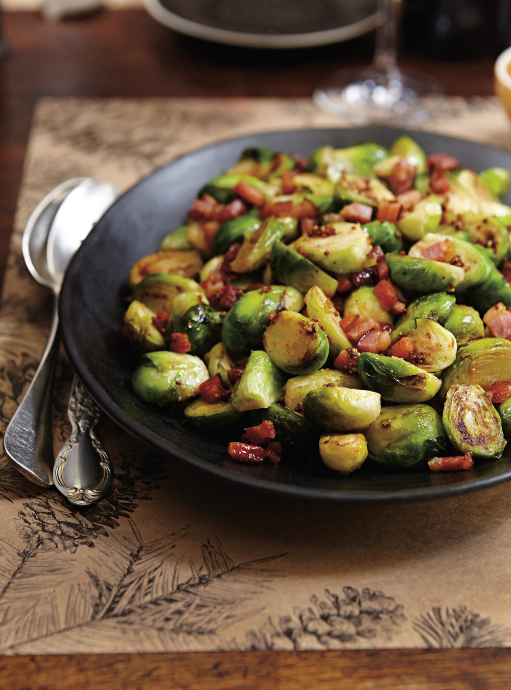 Roasted Brussels Sprouts With Mustard And Bacon Ricardo