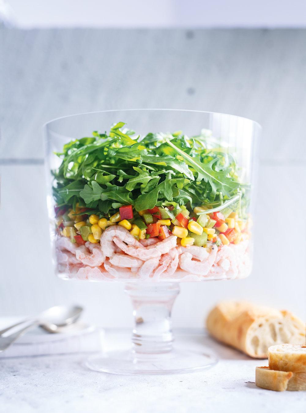 Salade De Crevettes Nordiques Et De Mais Ricardo