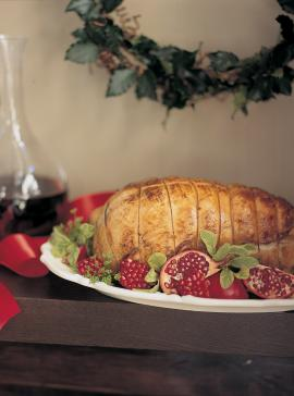 Turkey Roast with Cranberry and Port Wine