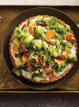 Tourte végé au quinoa et aux patates douces