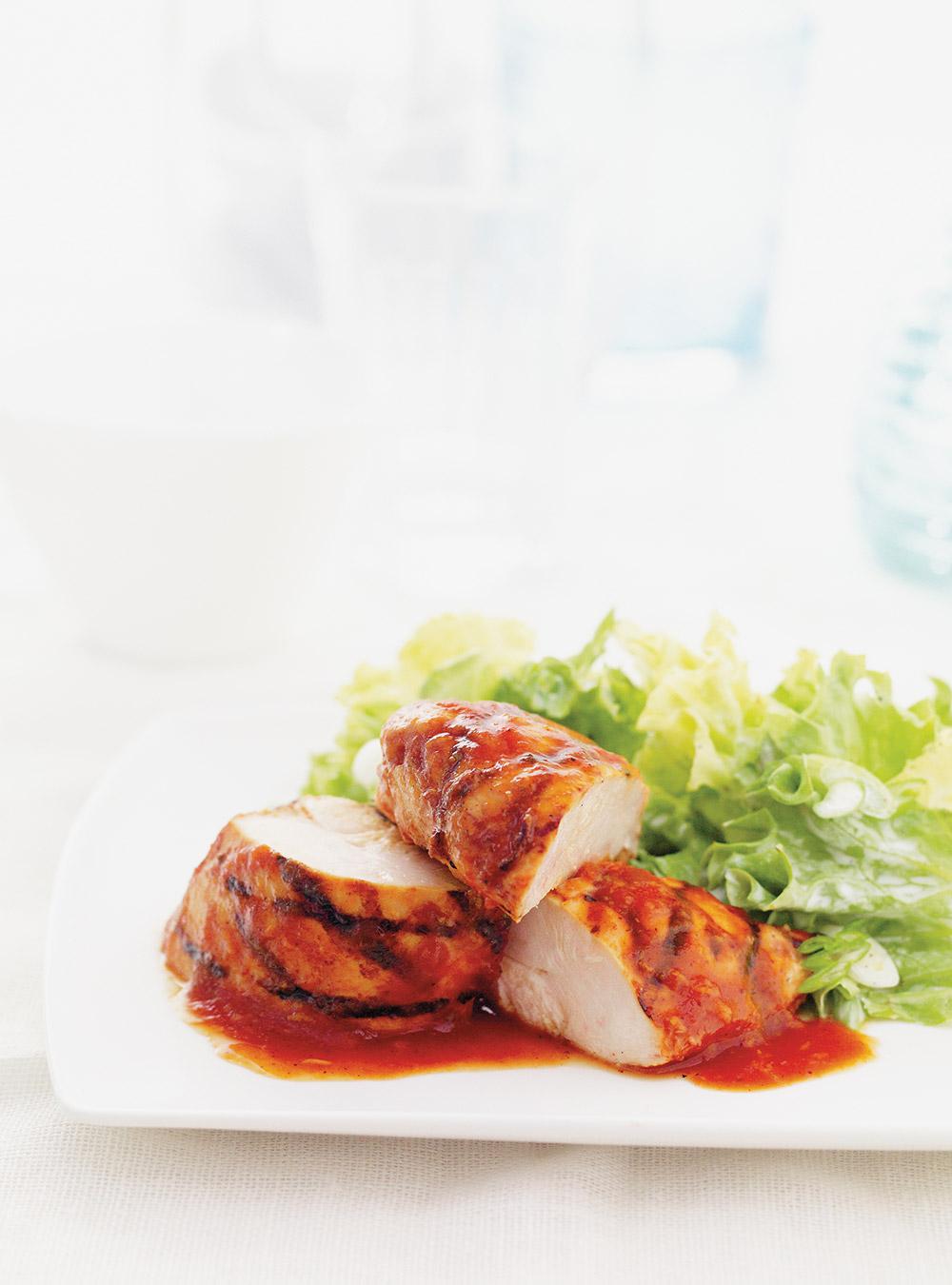 Poitrines de poulet barbecue