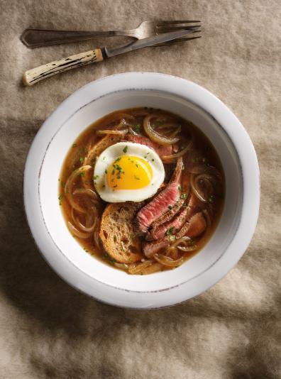 Photo Soupe <i>steak'n egg</i> (boeuf et oeuf)