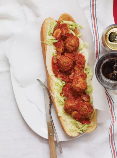 Photo Sandwich aux boulettes italiennes