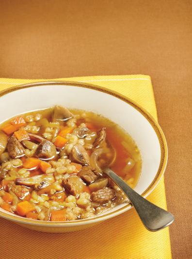 Photo Soupe boeuf et orge
