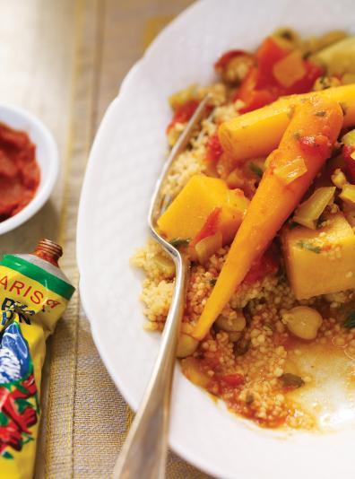 Photo Couscous de légumes et pois chiches à la mijoteuse
