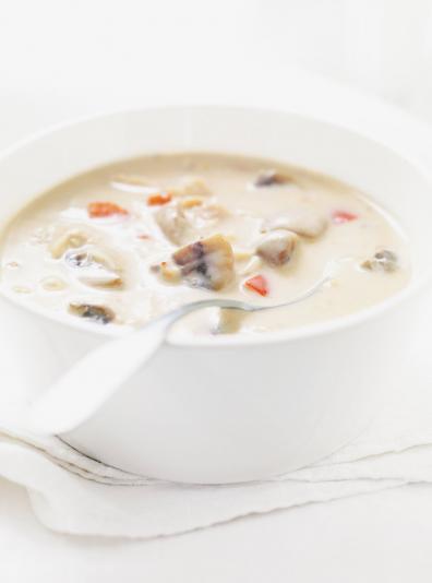 Photo Soupe crémeuse au poulet