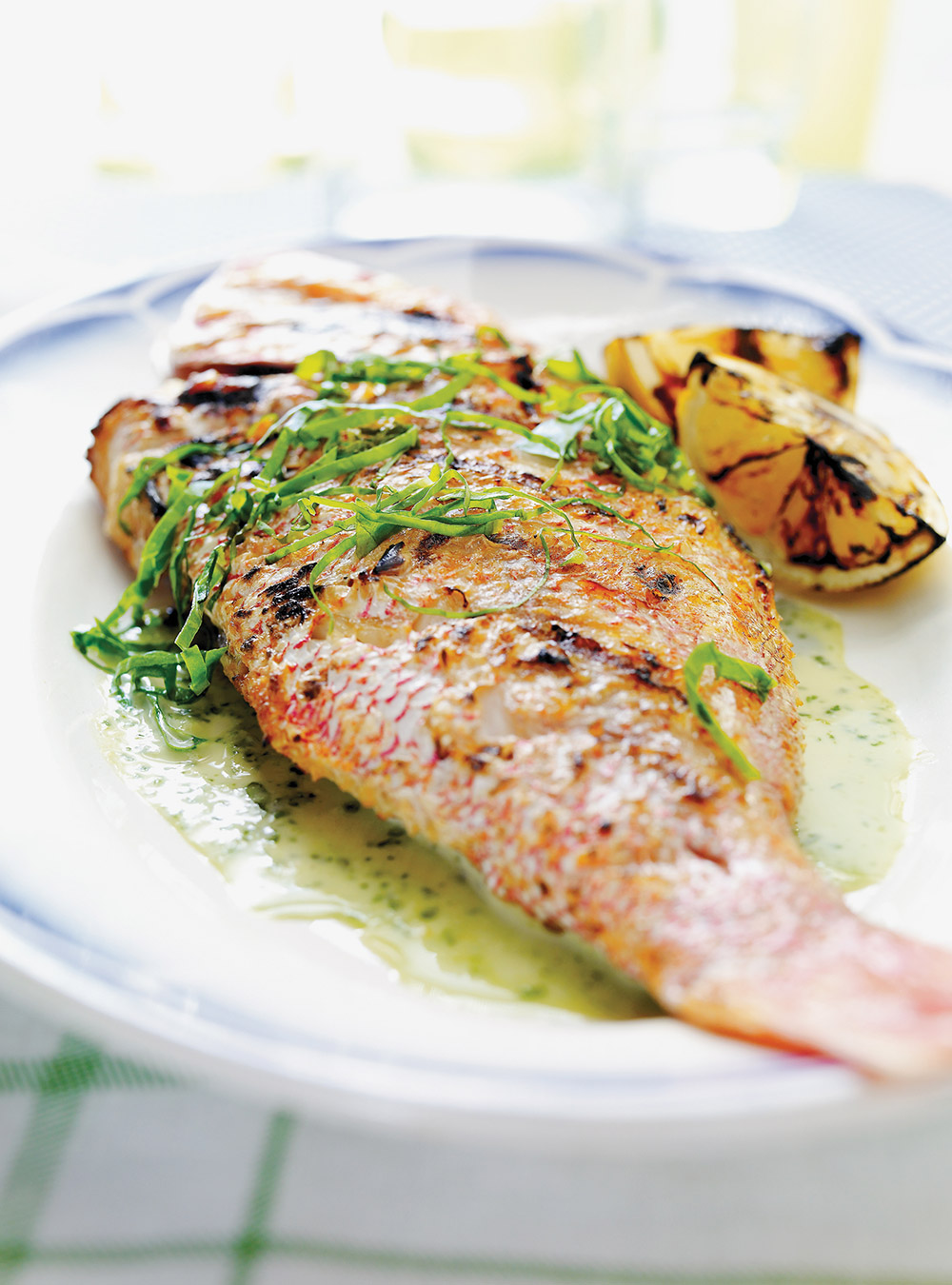 Grilled Red Snapper With Sorrel And Garlic Cream Ricardo