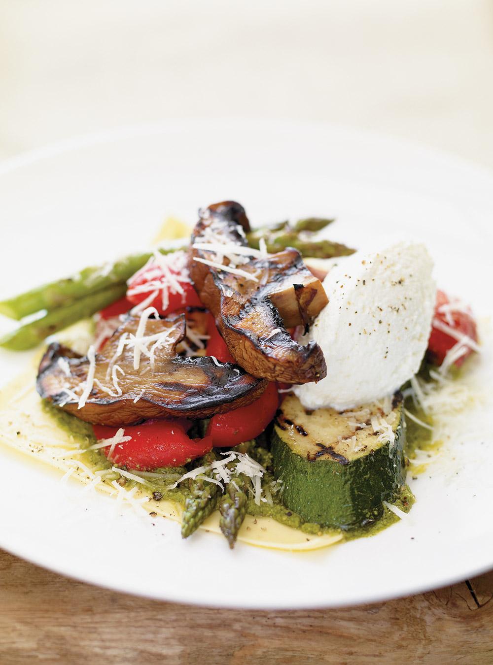Recette salade de l gumes grill s sur feuille de lasagne glouton - Antipasti legumes grilles ...