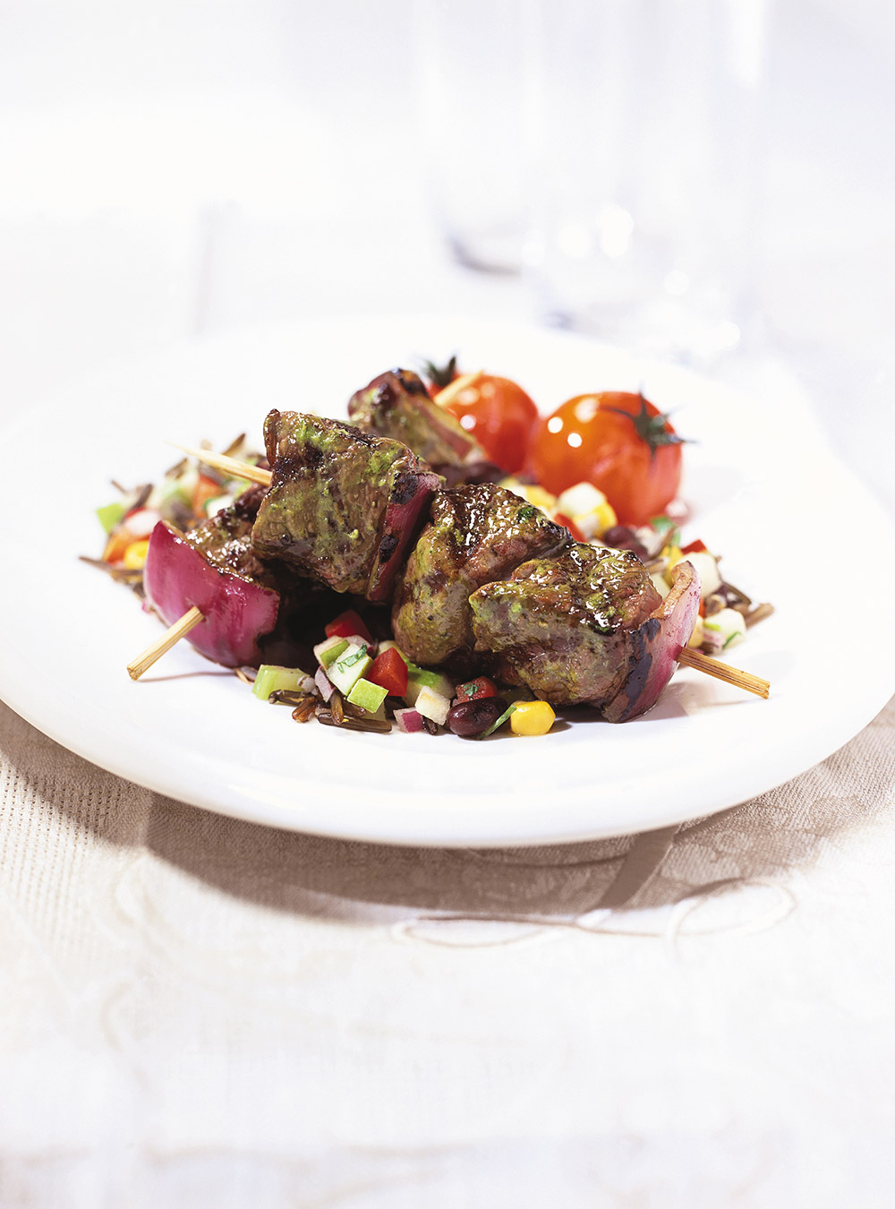 Ostrich Kebabs with Chimichurri Sauce | Ricardo