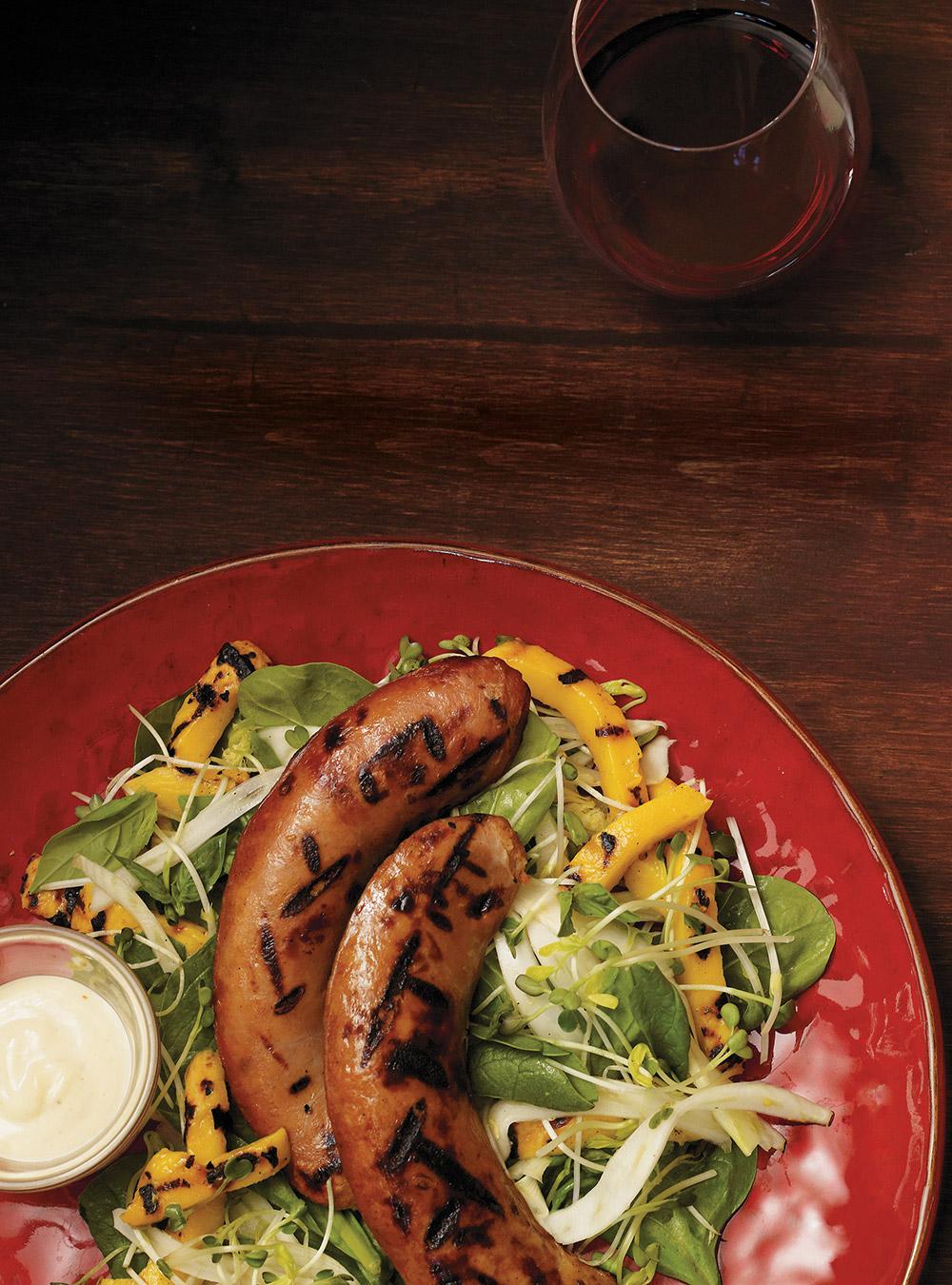 Recette saucisses et mangues grill es glouton for Ricardo cuisine