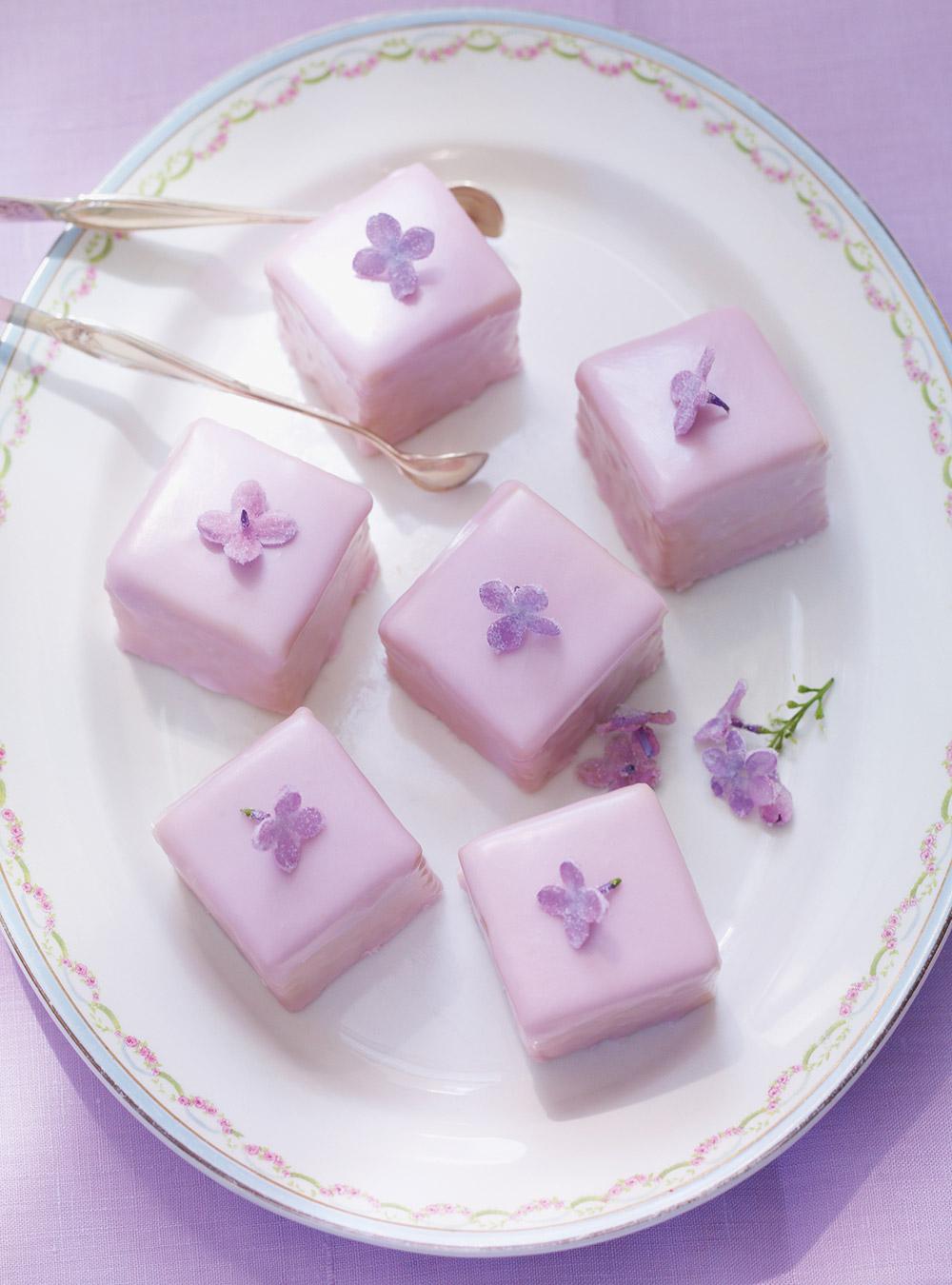 Crystallized Lilac Petits Fours Ricardo