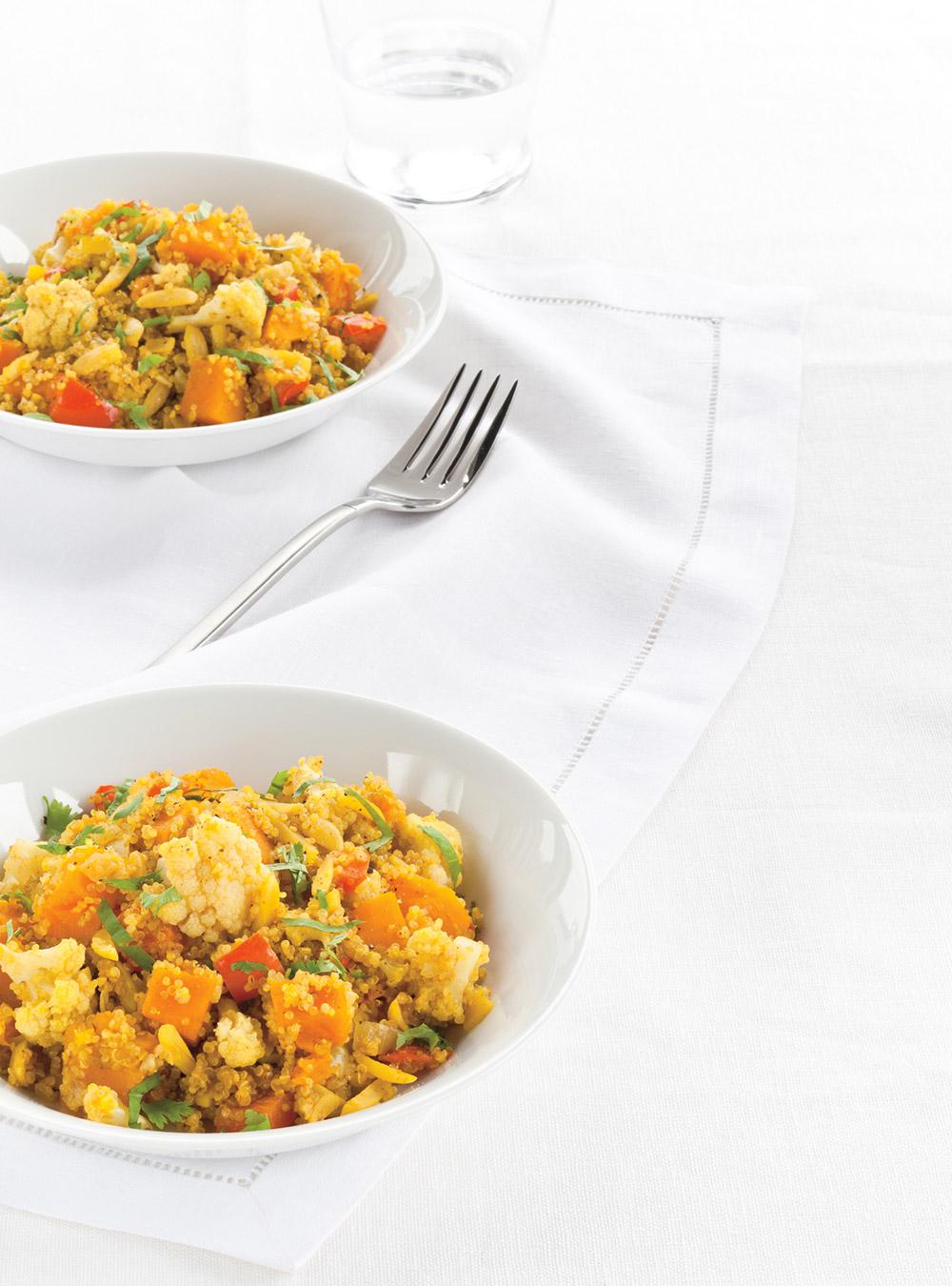 Recette quinoa v g tarien au cari glouton for Ricardo cuisine