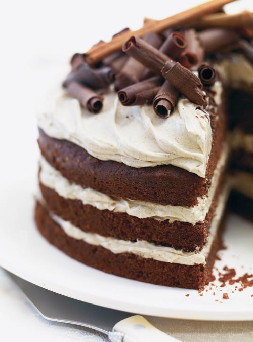 Gâteau au chocolat, glaçage aux épices