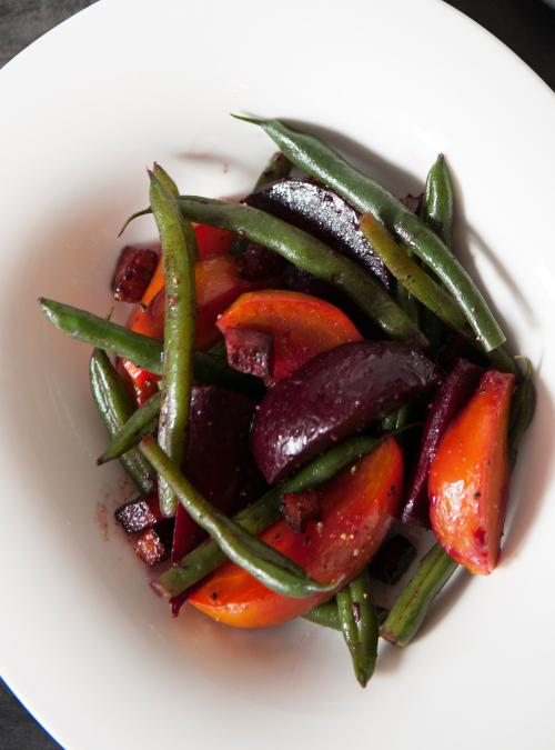 how to cook beet greens with bacon